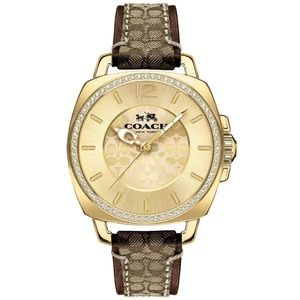 Coach Boyfriend Women's Leather Steel Watch